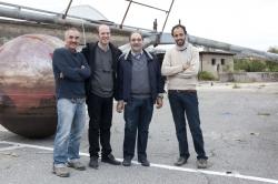 Guidoni con G. De Finis, F. Boni e Tino Franco