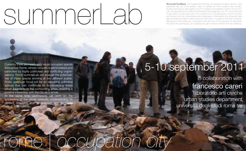 Flyer Rome Summer Lab