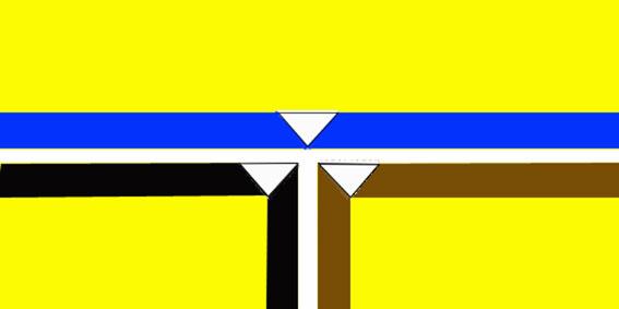 Bandiera del Metropoliz creata da Paolo Assenza