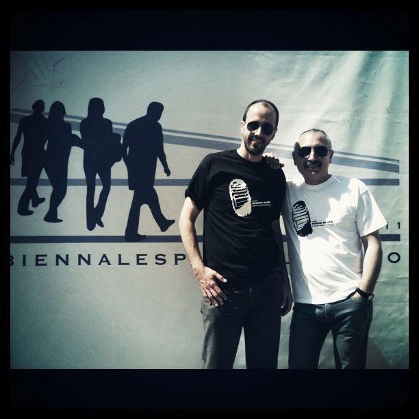 Fabrizio e Giorgio alla Biennale dello Spazio Pubblico