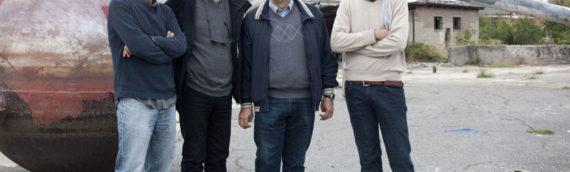 L'astronauta Umberto Guidoni in visita sul set di Space Metropoliz